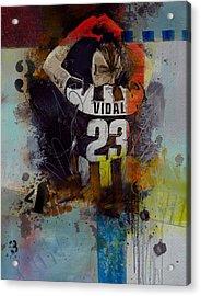 Arturo Vidal - D Acrylic Print by Corporate Art Task Force