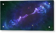 Artwork Of A Herbig-haro Object Acrylic Print by Mark Garlick