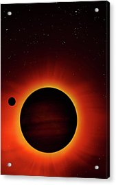 Artwork Of Exoplanet Eclipsing Its Star Acrylic Print