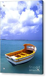 Aruba. Fishing Boat Acrylic Print by Anonymous