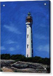 Aruba Light House Acrylic Print by Paul Walsh