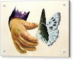 As Delicate As A Butterfly  Acrylic Print by Tatjana Popovska