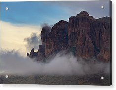 As The Clouds Float On By  Acrylic Print by Saija  Lehtonen
