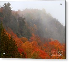 As The Fog Rolls In Acrylic Print by Steven Valkenberg