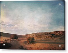 As The Sand Shifts So Do I Acrylic Print by Laurie Search