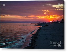 Acrylic Print featuring the photograph As The Sun Sets by Maddalena McDonald