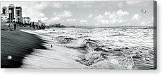 As The Tide Rolls In Acrylic Print by Cher Ferroggiaro
