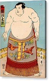 Asashio Toro A Japanese Sumo Wrestler Acrylic Print by Japanese School