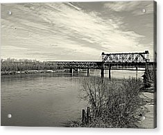 Asb Bridge Over The Missouri River Acrylic Print