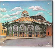 Acrylic Print featuring the painting Asbury Park Carousel House by Melinda Saminski