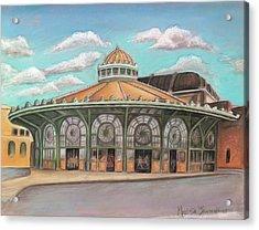 Asbury Park Carousel House Acrylic Print by Melinda Saminski