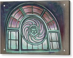 Acrylic Print featuring the painting Asbury Park Carousel Window by Melinda Saminski