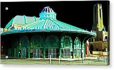 Asbury Park Dreamland Acrylic Print by  Tina McGinley