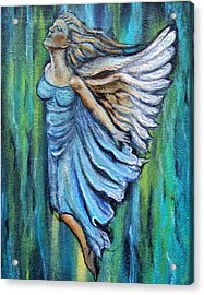 Ascending Angel Acrylic Print by The Art With A Heart By Charlotte Phillips