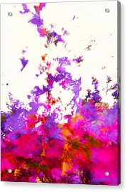 Acrylic Print featuring the photograph Ascending Floral Abstract by Paul Cutright