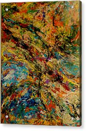 Ascension Abstraction Acrylic Print by Barb Greene mann