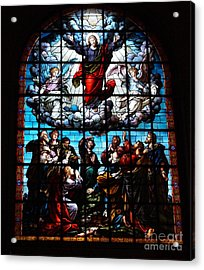 Ascension Of Christ Stained Glass Acrylic Print by Deborah Fay
