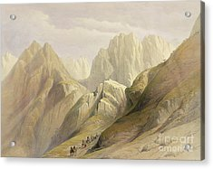 Ascent Of The Lower Range Of Sinai Acrylic Print by David Roberts