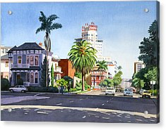 Ash And Second Avenue In San Diego Acrylic Print by Mary Helmreich