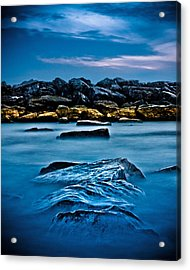 Ashbridges Bay Toronto Canada Breakwall 4 Acrylic Print by Brian Carson