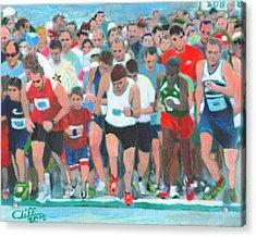 Ashland Half Marathon Acrylic Print by Cliff Wilson