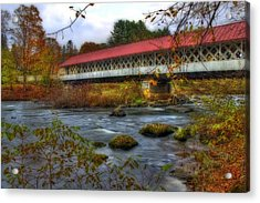 Ashuelot Covered Bridge 2 Acrylic Print by Joann Vitali