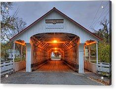 Ashuelot Covered Bridge Acrylic Print by Joann Vitali