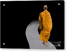 Acrylic Print featuring the digital art Asia by Angelika Drake