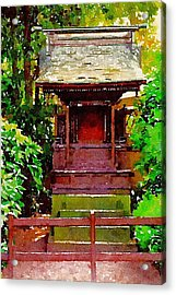 Asian Temple Acrylic Print by Daniel Precht