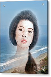 Asian Beauty Fade To Ocean Photograph Acrylic Print by Jim Fitzpatrick