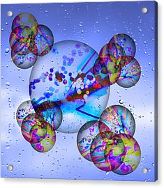 Asian Bubbles In Rain Acrylic Print by Anthony Caruso