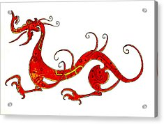 Asian Dragon Acrylic Print by Michael Vigliotti