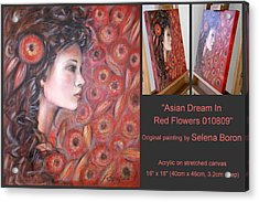 Asian Dream In Red Flowers 010809 Comp Acrylic Print