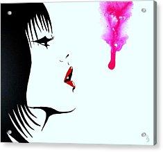 Asian Female Drip Art Acrylic Print