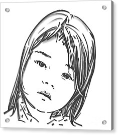 Asian Girl Acrylic Print by Olimpia - Hinamatsuri Barbu