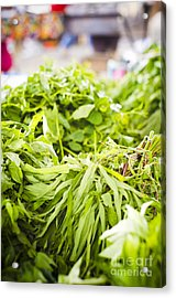 Asian Market Vegetable Acrylic Print by Tuimages