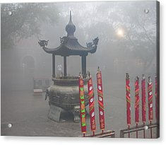 Acrylic Print featuring the photograph Asian Mornining In Lantau China by Jacqueline M Lewis