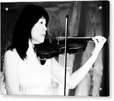Asian Woman Playing The Violin Acrylic Print by David Zoppi
