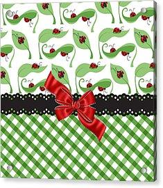 Asiatic Ladybugs  Acrylic Print by Debra  Miller