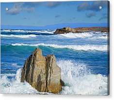 Asilomar Rollers - Asilomar State Beach Acrylic Print by Jim Pavelle