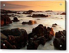 Asilomar Sunset Acrylic Print by Eric Foltz