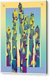 Asparagus Gradient Acrylic Print