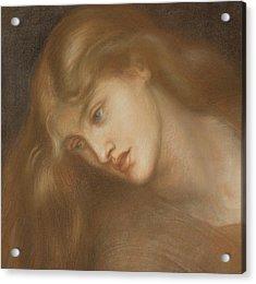 Aspecta Medusa Acrylic Print by Dante Charles Gabriel Rossetti