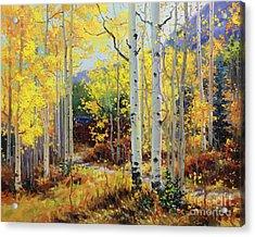 Aspen Cabin Acrylic Print by Gary Kim