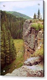 Aspen Cliff Acrylic Print