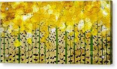 Aspen Colorado Abstract Panorama Acrylic Print by Andee Design