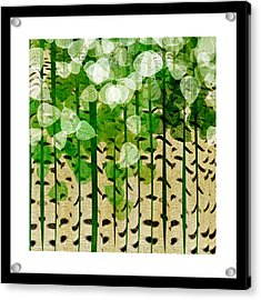 Aspen Colorado Abstract Square 2 Acrylic Print by Andee Design