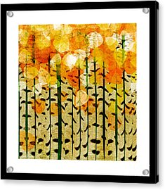 Aspen Colorado Abstract Square 4 Acrylic Print by Andee Design