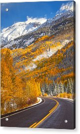 Aspen Highway Acrylic Print by Darren  White