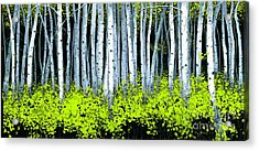 Acrylic Print featuring the painting Aspen II by Michael Swanson